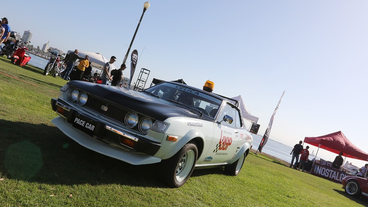 1975 Toyota Celica, a former Long Beach Grand Prix pace car.