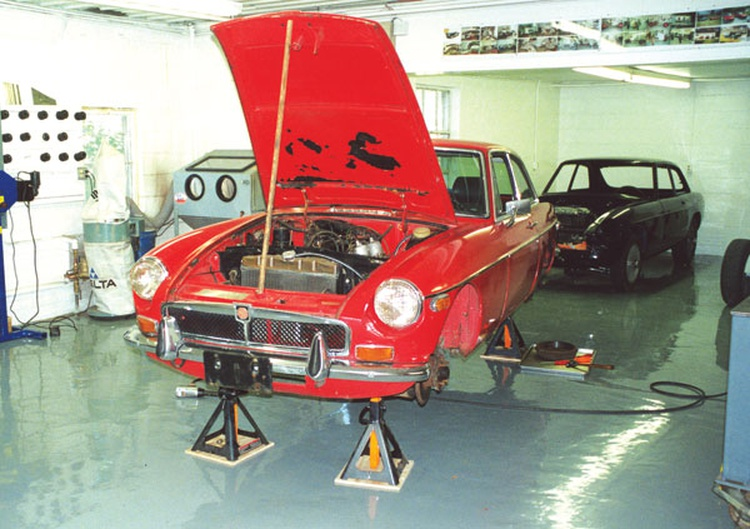 In the shop, the car went up on jack stands for inspections of all the major systems.
