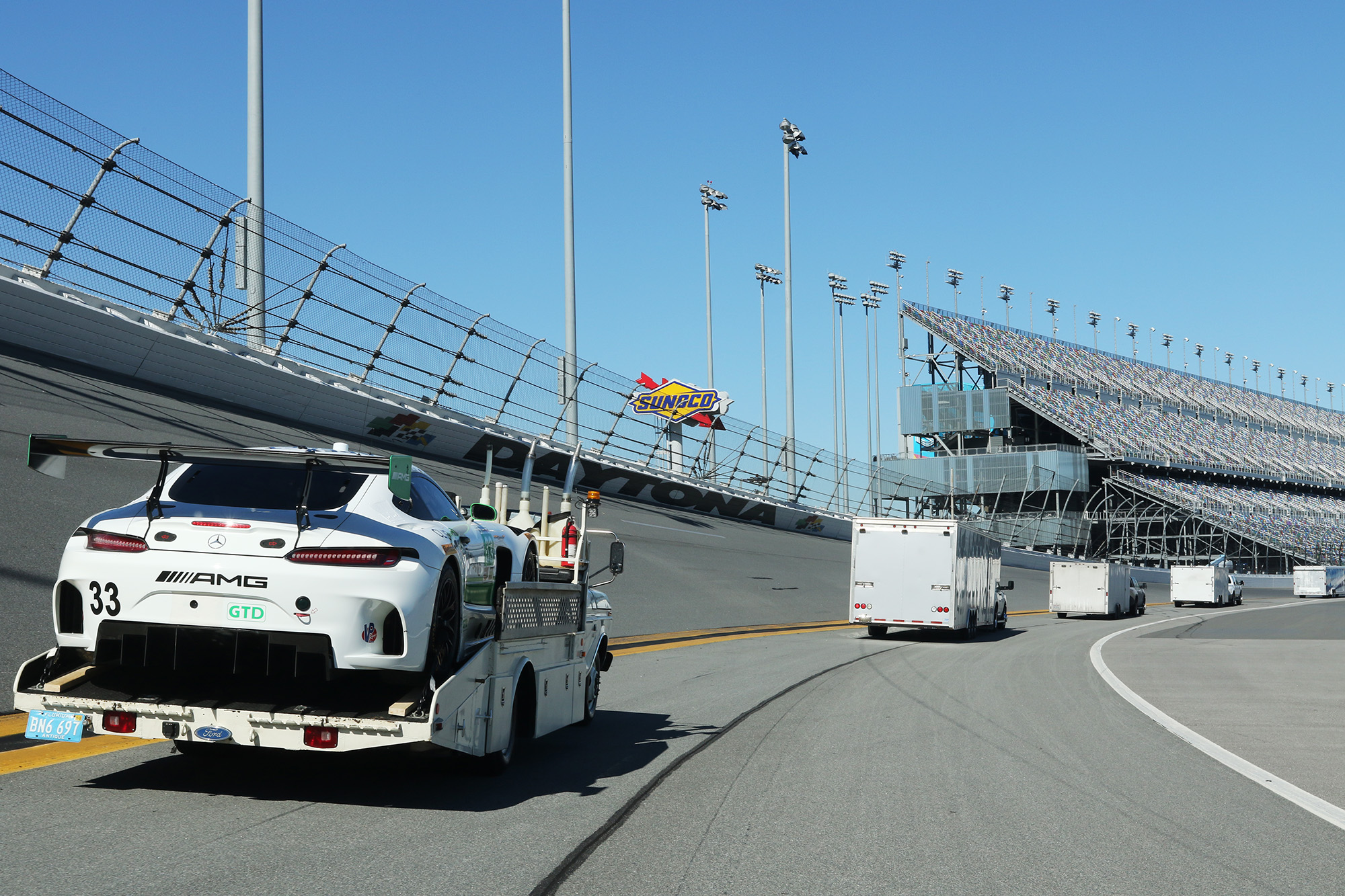 We Carried a Priceless AMG GT3 Race Car on Our Ramp Truck   Ford F ...