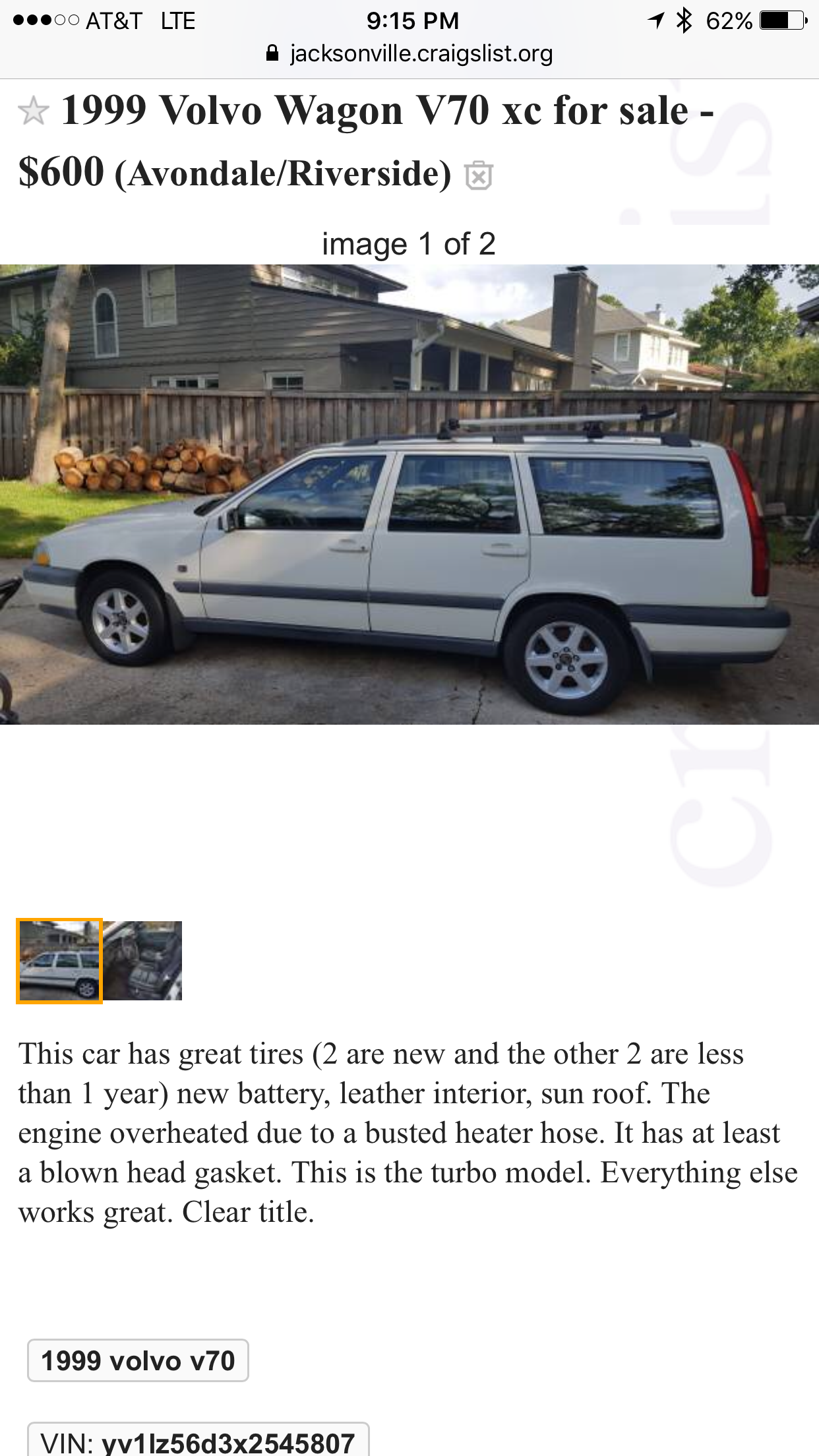 Project Volvo Wagon: Let's Buy Two More | Volvo V70 XC | Project Car