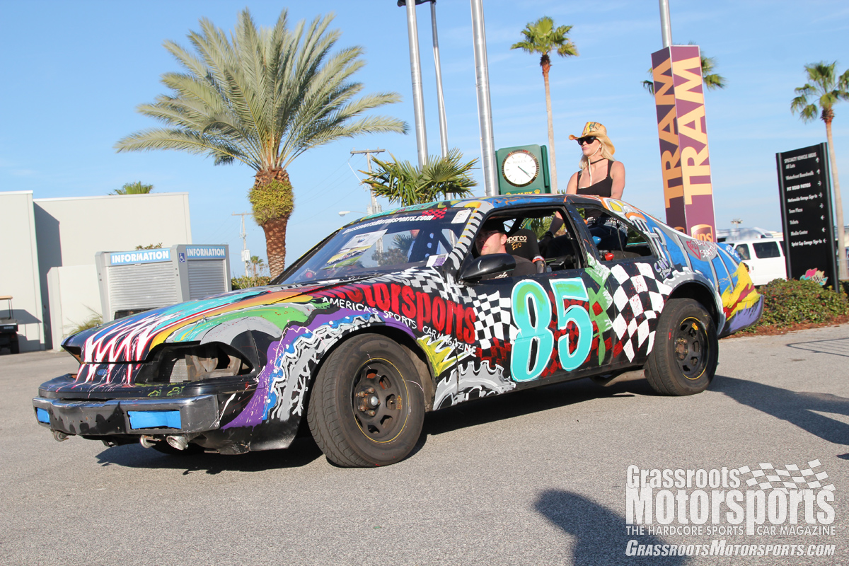 Spectators Paint Our Lincoln At The Rolex 24 Lincoln Mark Vii