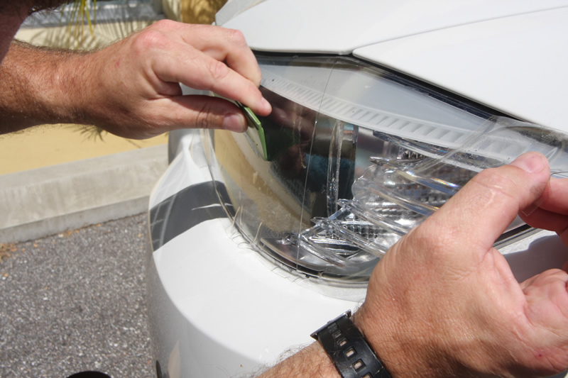 how to get water out of headlights