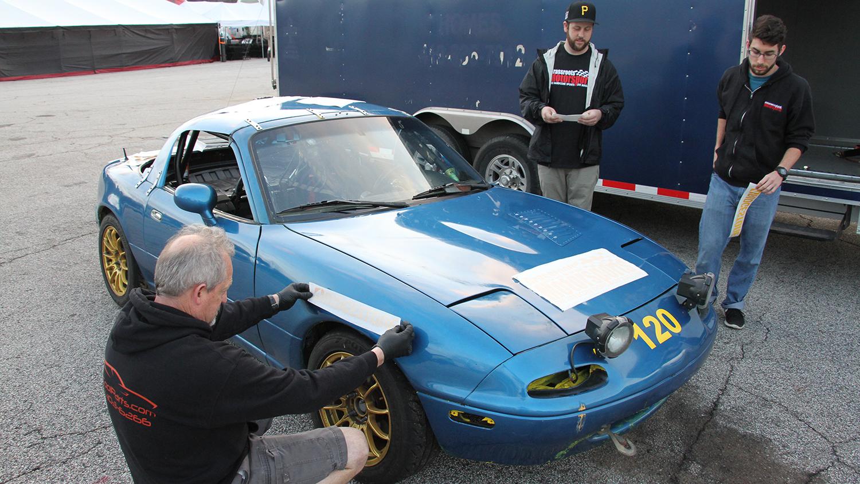 Project Turbo Miata Adding Some Vinyl Mazda Miata
