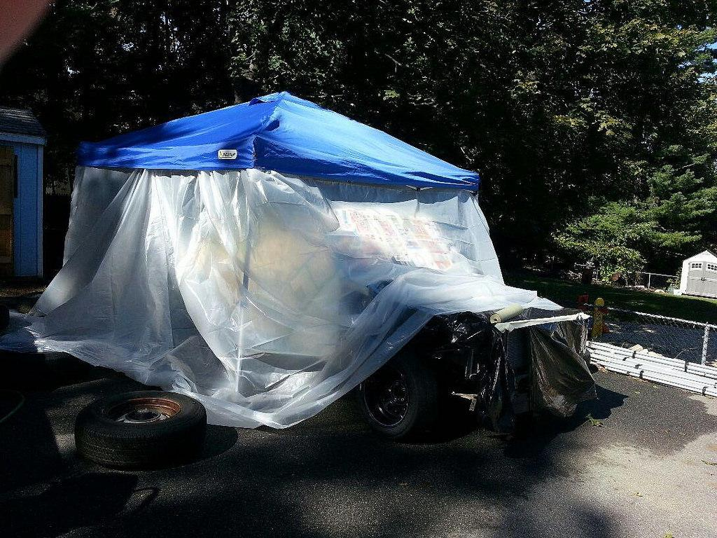Show me: Your temporary garage paint booths| Grassroots