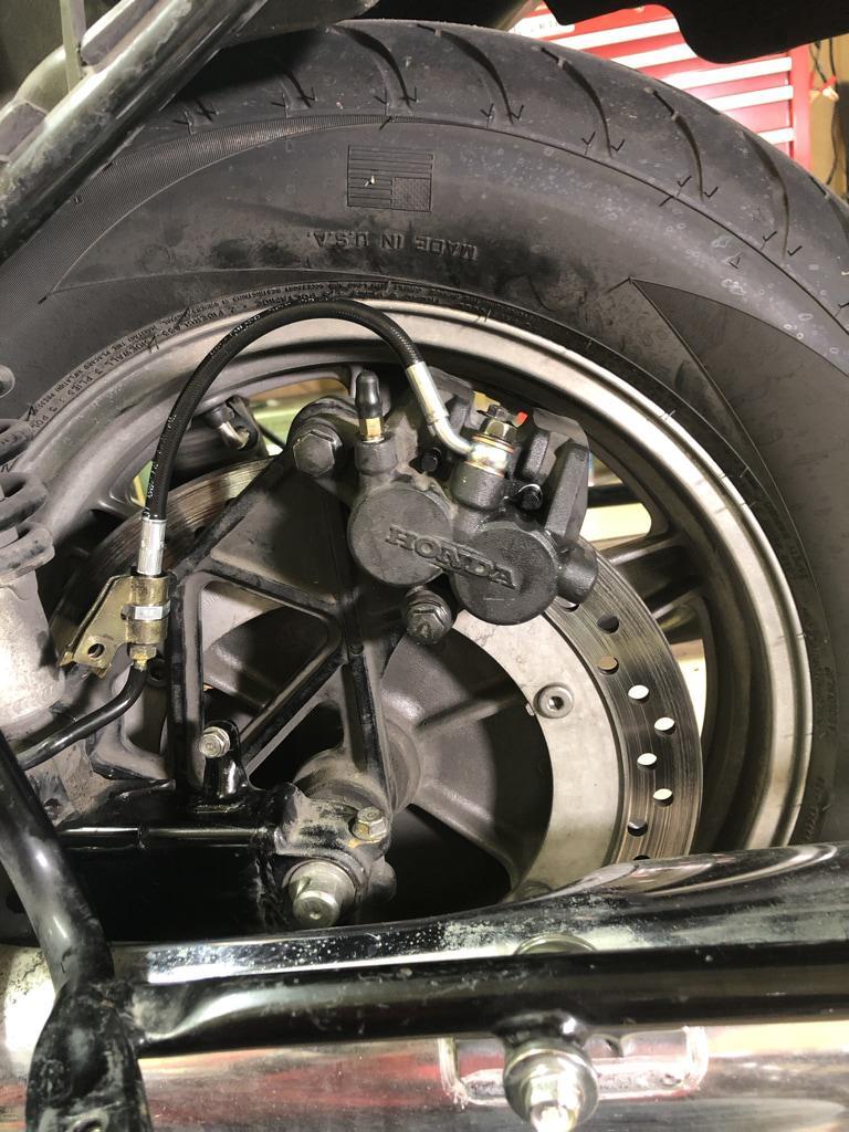 New rear brake line in its full glory