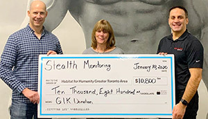 Stealth Monitoring Tops Last Year's Donation to Habitat for Humanity