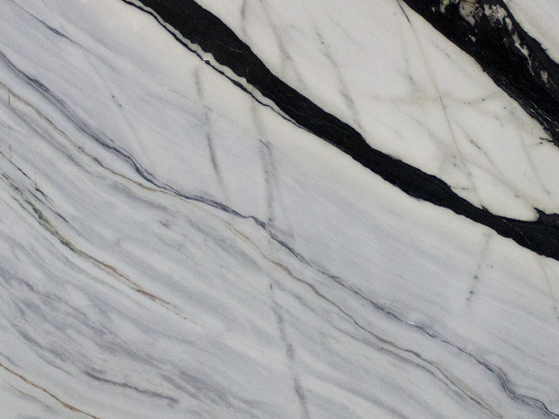 View of Marble - Bianco Lasa Macchia Vecchia Leather 3cm