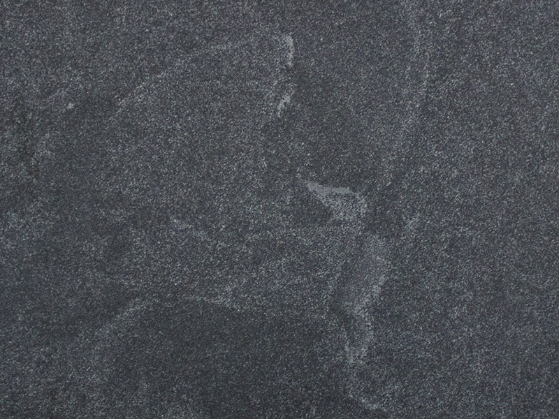 View of Granite - Mystic Black Leather 3cm