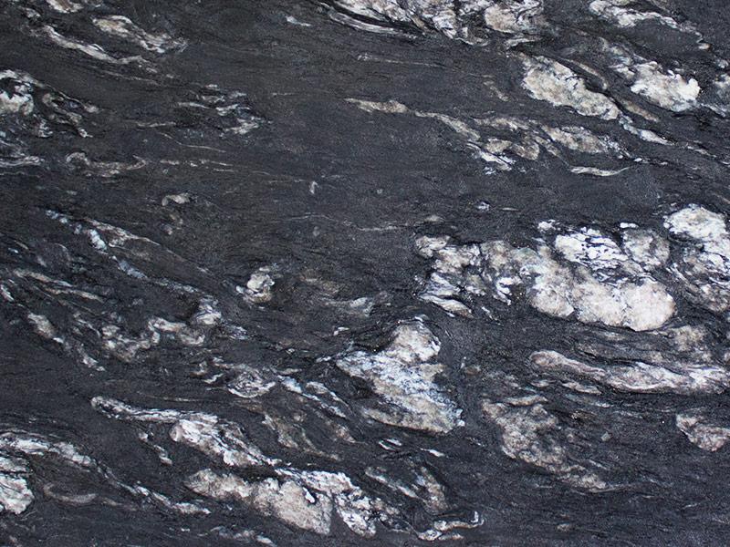 View of Granite - Titanium Black Leather 3cm