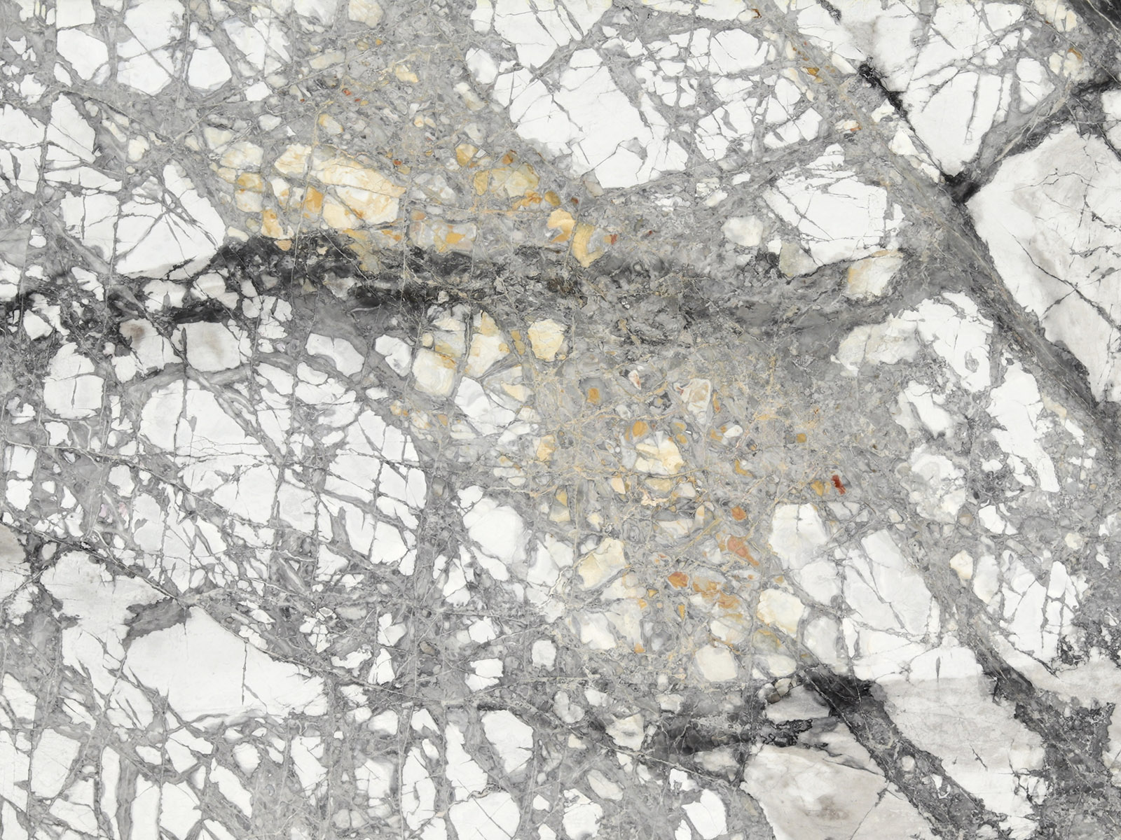 View of Marble - Invisible Greygold Leather 2cm