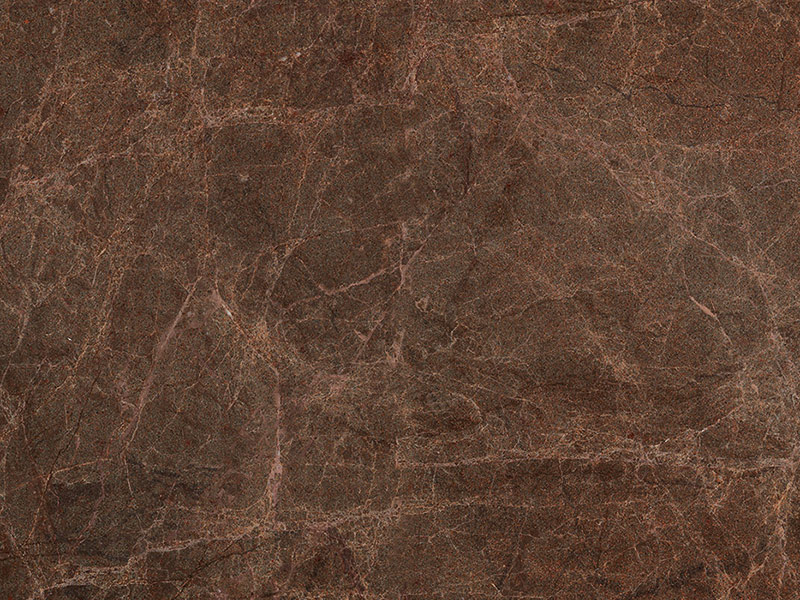 View of Granite - Azerobact Brown Chocolate Leather 3cm