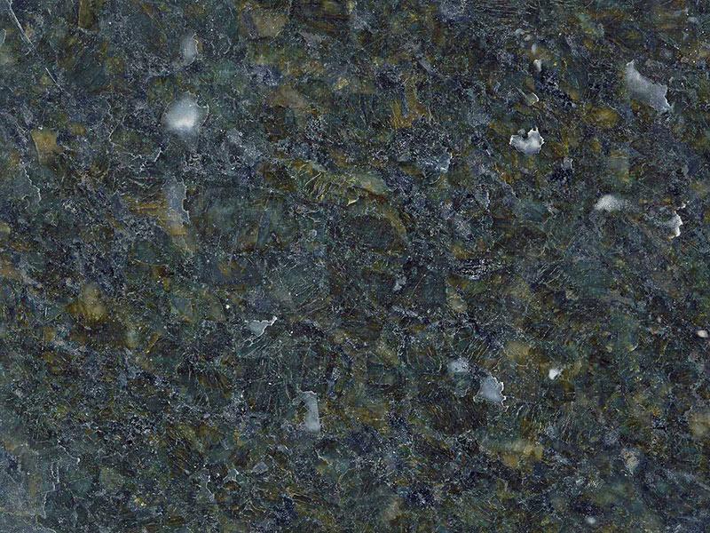 View of Granite - Classic Leather Smokey Green 3cm