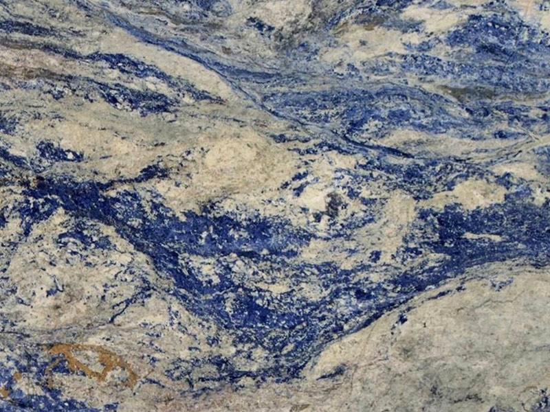 View of Granite - Sodalite Blue Extra 2cm