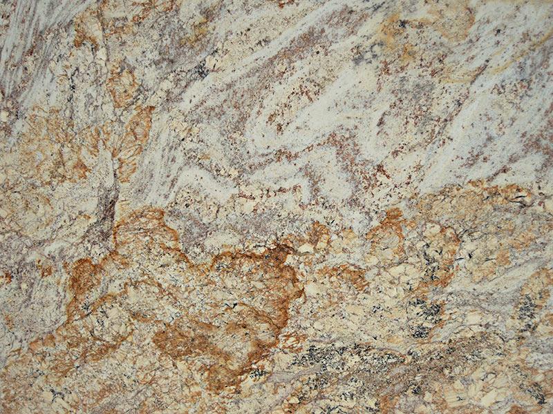 View of Granite - Typhoon Bordeaux Gold 3cm