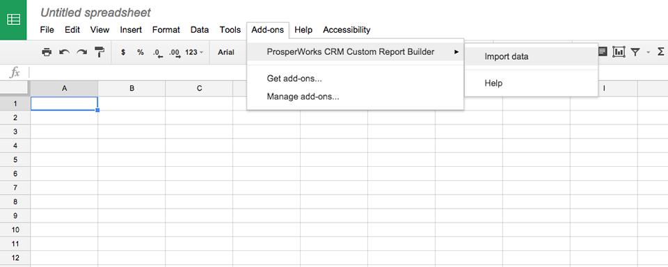 Google Sheets CRM Report Builder