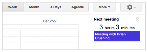 Google Calendar Countdown