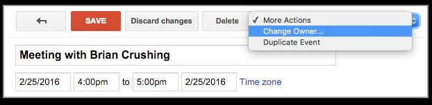 Google Calendar Owners