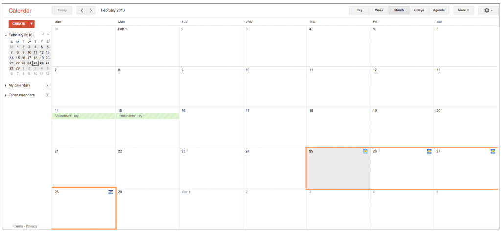 Google Calendar Weather