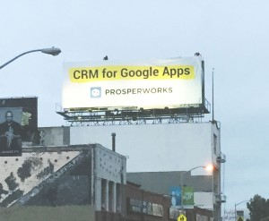CRM for google apps billboard
