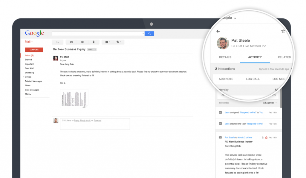 ProsperWorks Gmail Chrome Extension