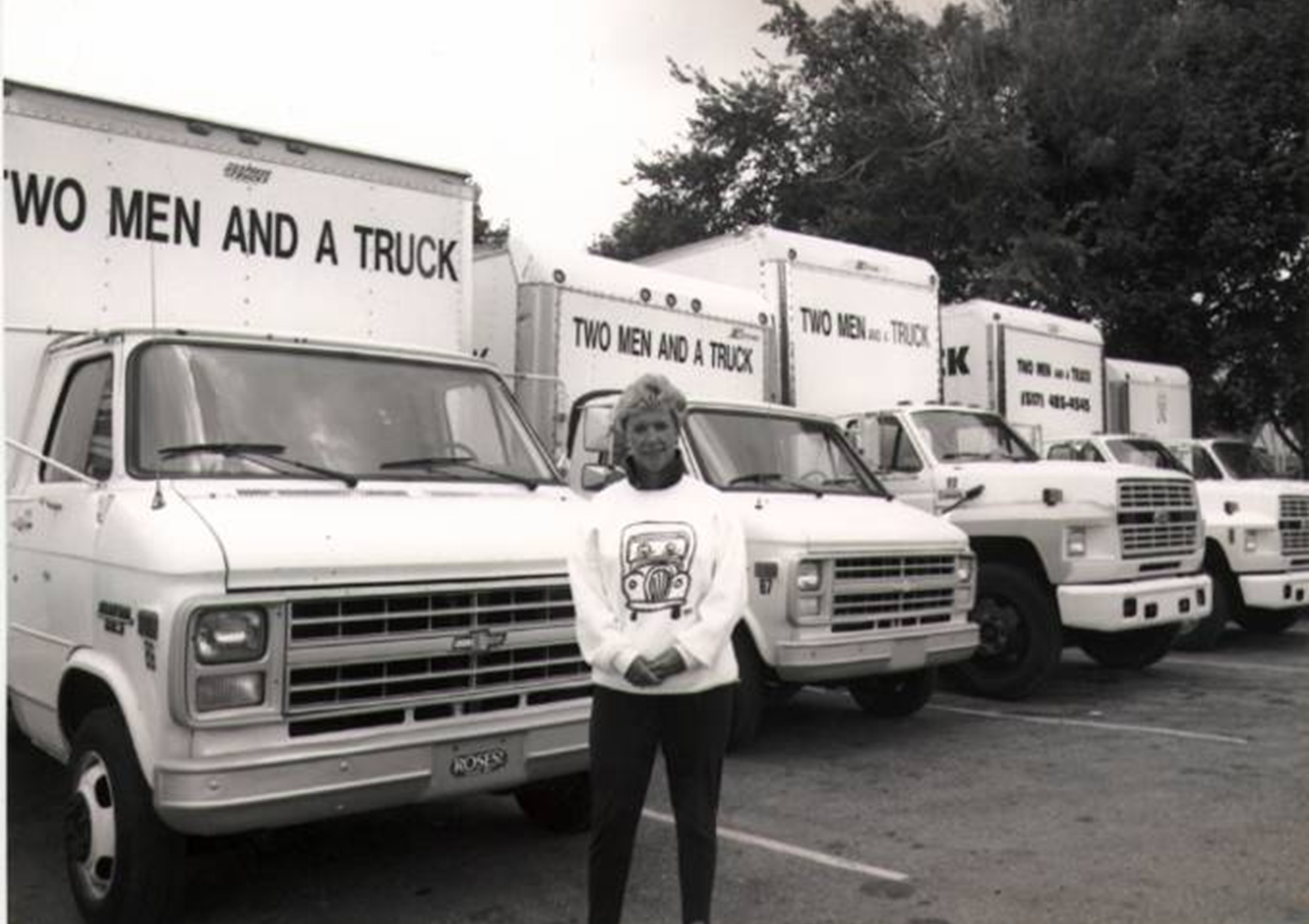 two men and a truck celebrates 429 moving trucks in service