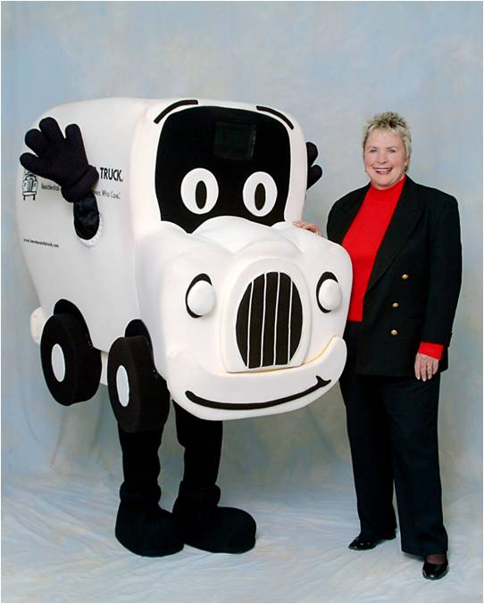 Truckie the two men and a truck mascot is born