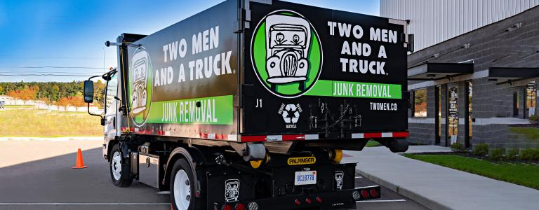 professional junk removal services truck