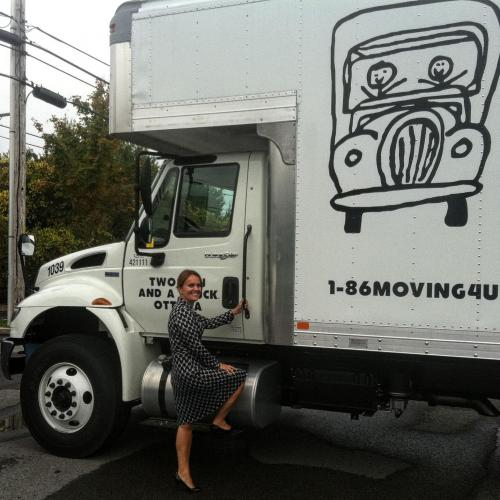 lyne with a truck