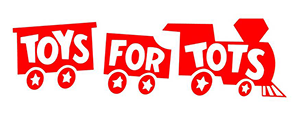 Toys for Tots - red train logo