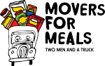 logo for movers for meals charity in little rock