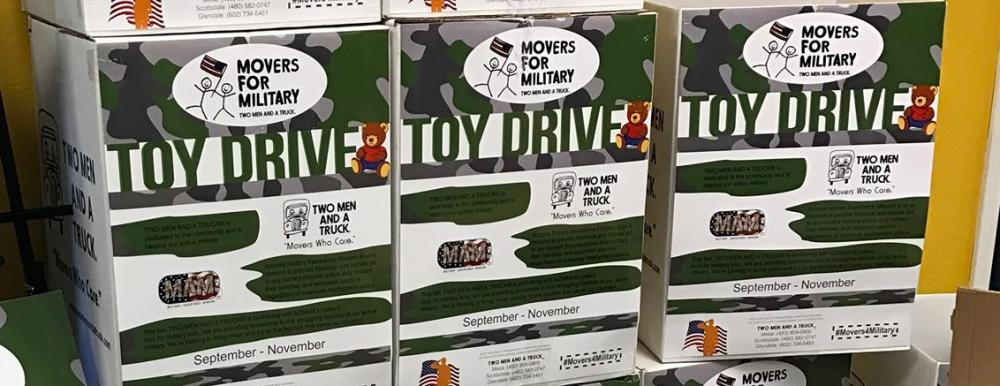 Movers for Military collection boxes