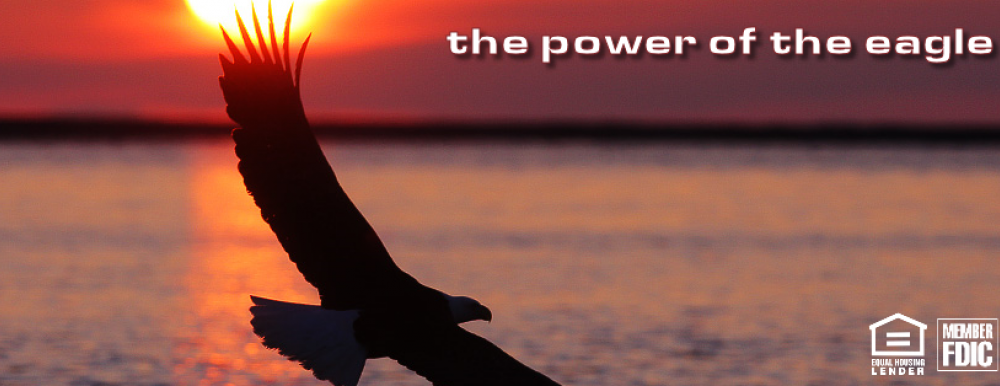 charterwesr cover photo of eagle with sunset background