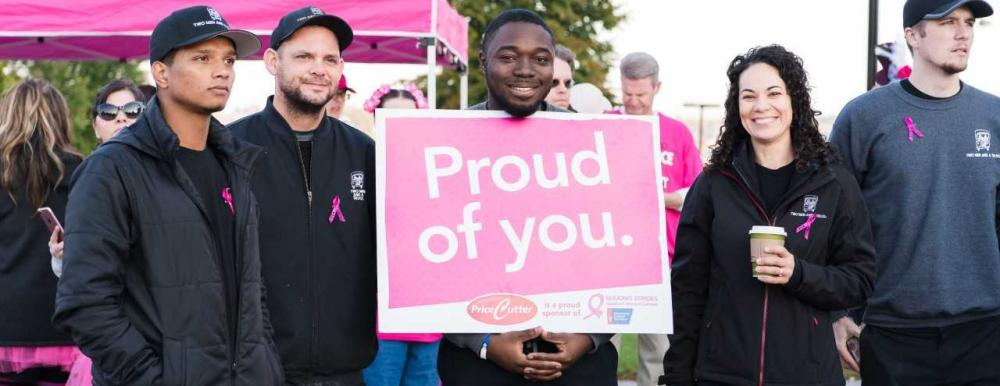 Two Men and A Truck Springfield Mile Marker Sponsors of Making Strides Against Breast Cancer 2018