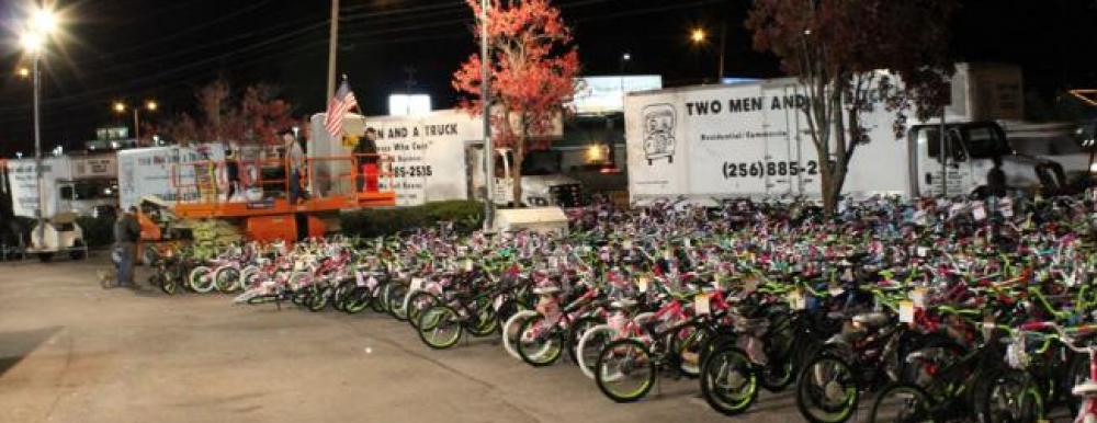 Bikes Toys For Tots Or Bust : Huntsville community two men and a truck