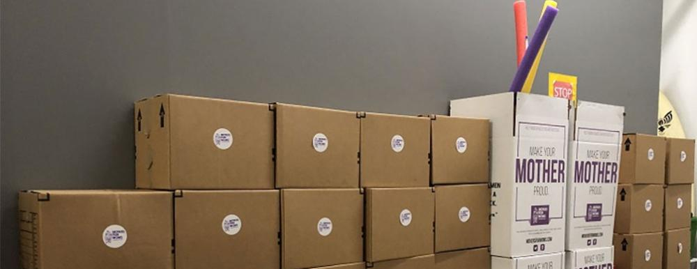 boxes of movers for moms donations in beaverton