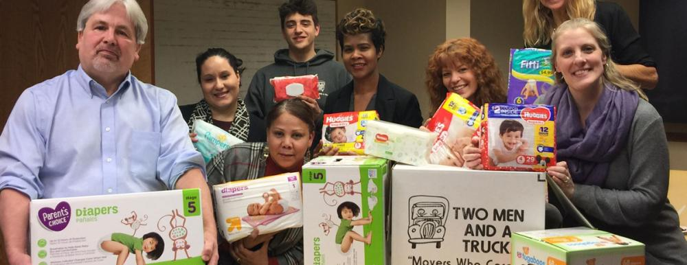 YALE Diaper Drive for New Reach. Photo of Participants