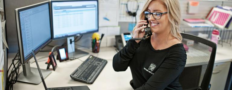 customer service representative answering questions