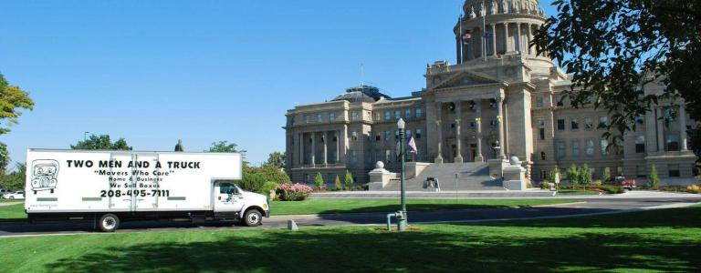 Moving truck at Boise Capital