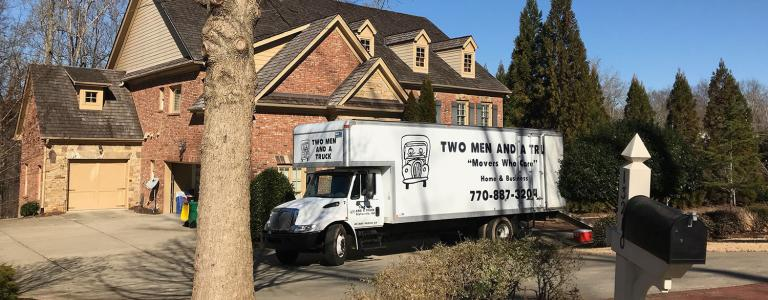 moving truck in alpharetta neighborhood