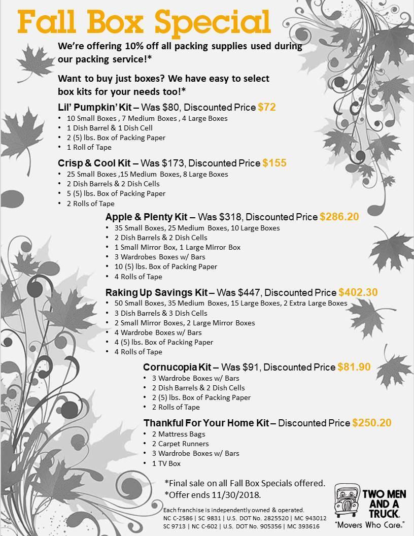 Fall Box Sale