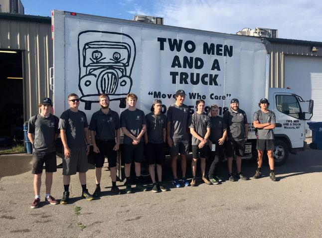 two men and a truck missoula team photo