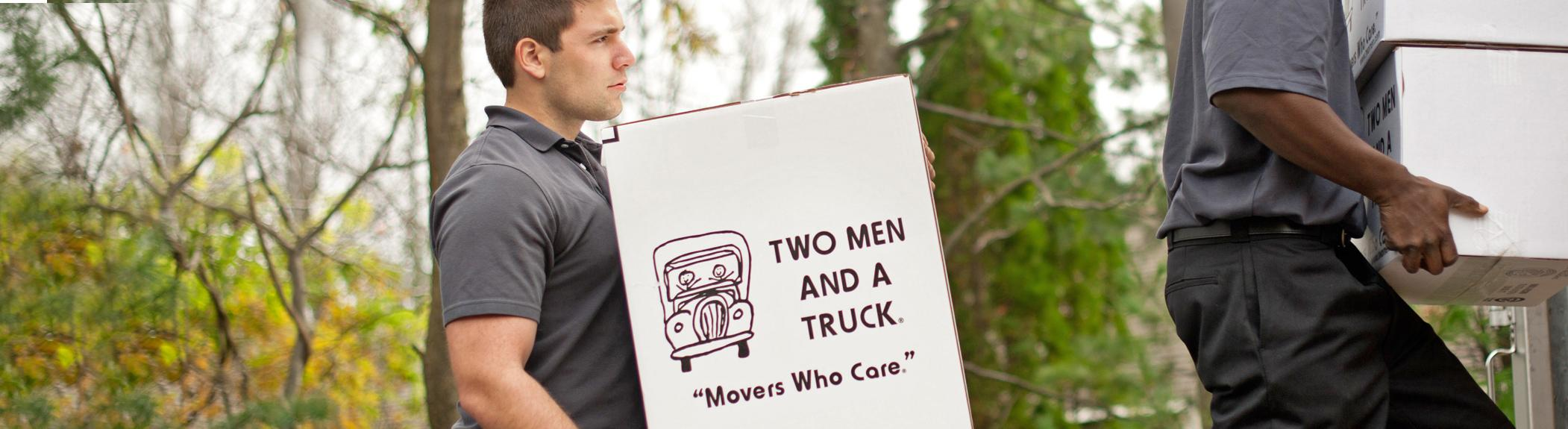local home moving company services by two men and a truck