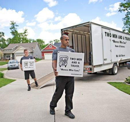 Movers with boxes