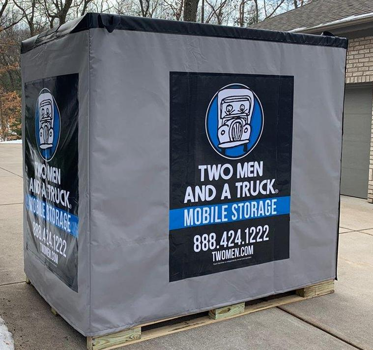 Photo of Mobile Storage containers sitting in a customer's driveway