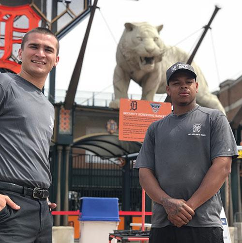 two men and a truck downtown detroit movers at comerica park