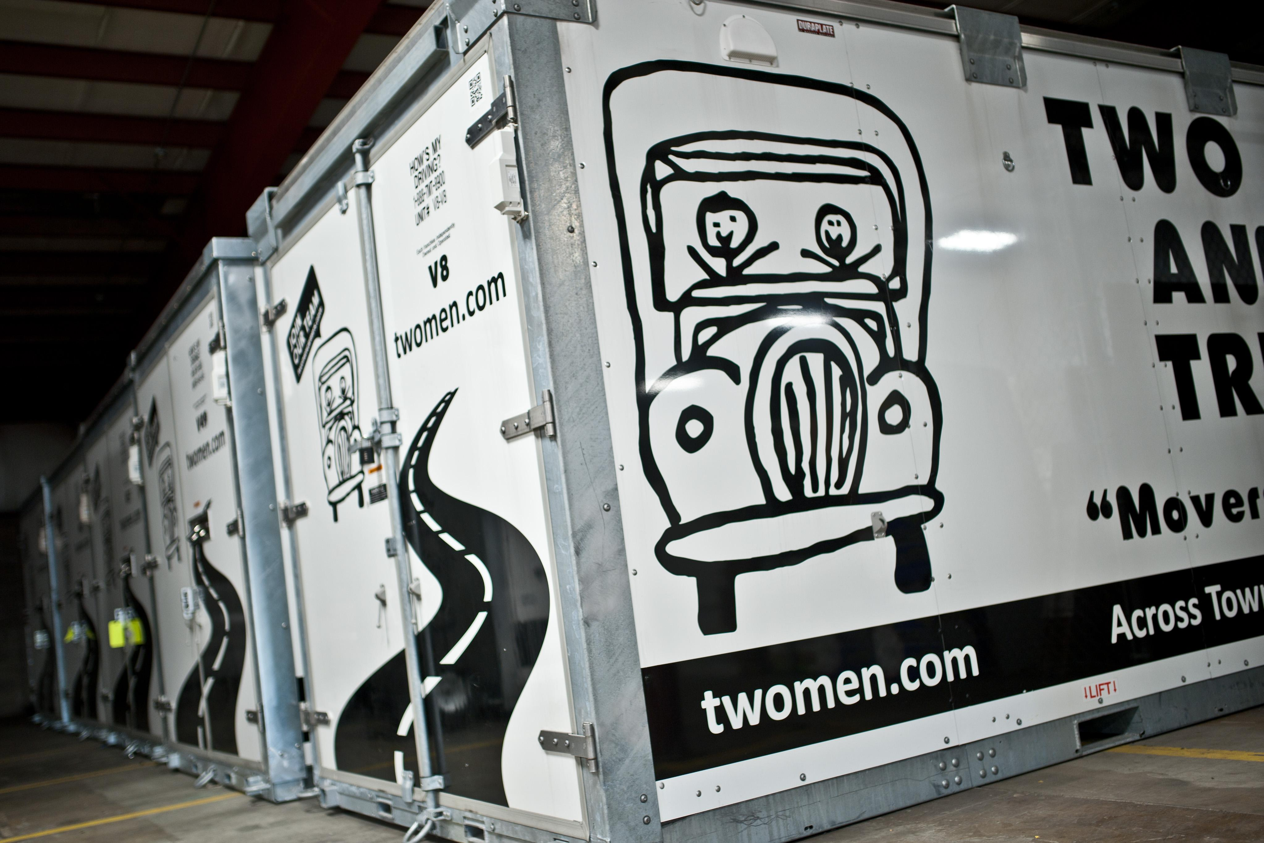 Two Men and a Truck portable storage container