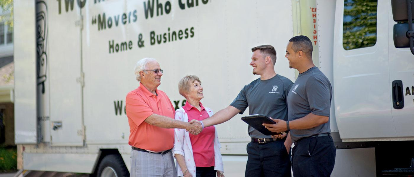 senior service with two men and a truck