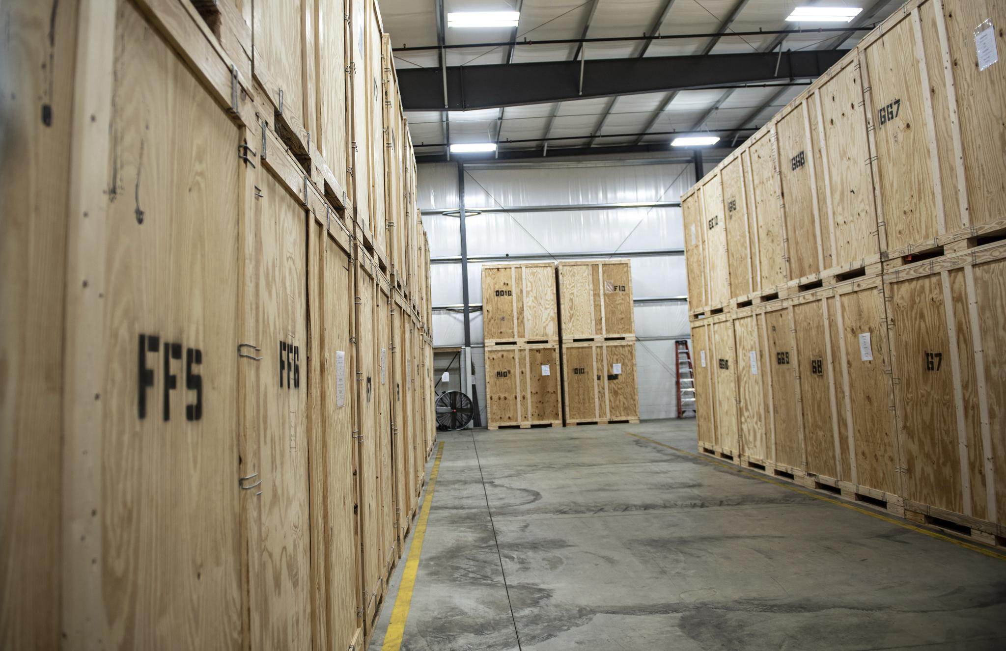 Storage facility showing climate regulated storage options