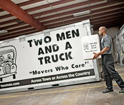 two men and a truck's value flex storage container