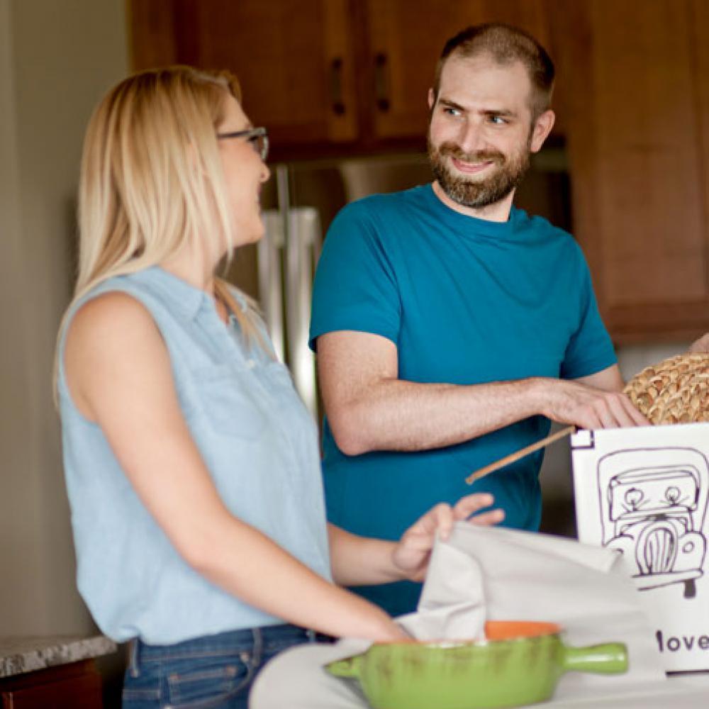 a couple preparing a house move